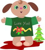 Christmas Puppy with Love Royalty Free Stock Photography