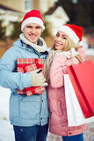 Christmas purchase Royalty Free Stock Photo