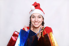 Christmas purchases. Royalty Free Stock Images