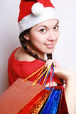 Christmas purchases. Royalty Free Stock Photos