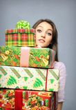 Christmas purchasing Stock Photography