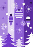 Christmas purple Stock Photography