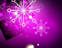 Christmas purple abstract background Stock Image