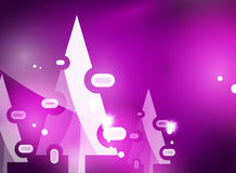Christmas purple abstract background  Stock Photography