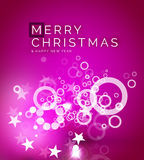 Christmas purple abstract background Royalty Free Stock Image