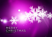 Christmas purple abstract background  Stock Photos