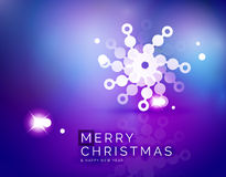 Christmas purple abstract background  Stock Photo