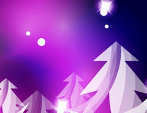 Christmas purple abstract background. Christmas purple color abstract background with white transparent snowflakes. Holiday winter template, New Year layout Stock Photography