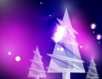 Christmas purple abstract background. Christmas purple color abstract background with white transparent snowflakes. Holiday winter template, New Year layout Royalty Free Stock Photography