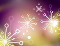 Christmas purple abstract background with white. Christmas purple color abstract background with white transparent snowflakes. Holiday winter template, New Year Stock Images