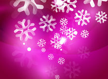 Christmas purple abstract background with white Stock Photo