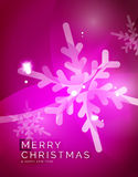 Christmas purple abstract background with white Royalty Free Stock Image