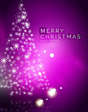 Christmas purple abstract background with white Royalty Free Stock Images