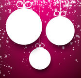 Christmas purple abstract background. Royalty Free Stock Photo