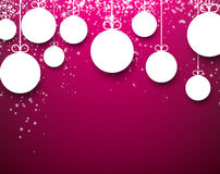 Christmas purple abstract background. Stock Image