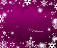 Christmas purple background. With snow flakes Royalty Free Stock Photo