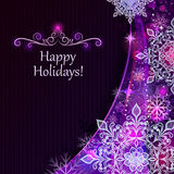 Christmas purple background. Royalty Free Stock Photography
