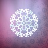 Christmas purple background with snowflake. EPS 10 Stock Image