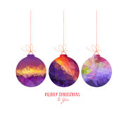 Christmas purple balls abstract isolated on a white backgrounds Royalty Free Stock Images