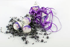 Christmas purple decoration Royalty Free Stock Images