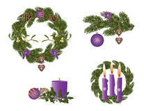 Christmas in purple Royalty Free Stock Photos