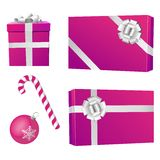 Christmas purple objects Stock Photo