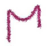 Christmas purple tinsel with stars. Royalty Free Stock Image