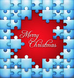 Christmas puzzle  background Stock Photo