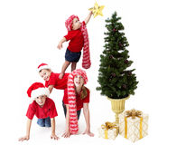 Christmas pyramid Stock Images
