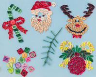 Christmas quiling decoration elements Royalty Free Stock Photography
