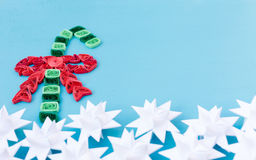 Christmas quiling decoration elements Royalty Free Stock Photo