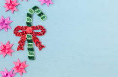 Christmas quiling decoration elements Royalty Free Stock Image