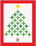 Christmas quilt. Illustration of a Christmas tree quilt Stock Images
