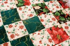 christmas quilt Στοκ εικόνες με δικαίωμα ελεύθερης χρήσης