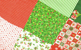 Christmas Quilt Background Stock Images