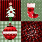 Christmas quilt pattern Stock Photos