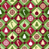 Christmas Quilt Pattern Royalty Free Stock Images