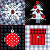 Christmas quilting design. Seamless background pattern. Will tile endlessly Stock Photos