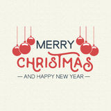 Christmas quote typography bauble illustration Royalty Free Stock Photos