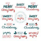 Christmas quotes set stock illustration