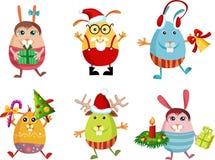 Christmas rabbit Stock Photo