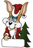 Christmas Rabbit. 2010 - colored cartoon illustration vector illustration