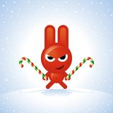 Christmas Rabbit Royalty Free Stock Photos