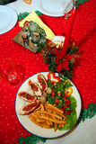 Christmas rabbit meat Royalty Free Stock Photos