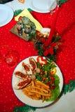 Christmas rabbit meat Royalty Free Stock Photos