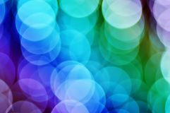 Christmas rainbow bokeh Stock Image