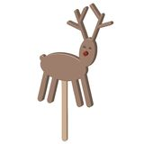 Christmas raindeer chocolate on a stick Royalty Free Stock Image