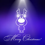 Christmas raindeers with blue background Royalty Free Stock Images