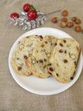 Christmas raisin nut bread Stock Photo