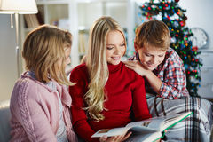 Christmas reading Stock Images